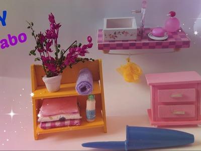 #10 DIY Miniature Dollhouse Restroom-DIY Miniatura de Lavabo para Casinha de Boneca