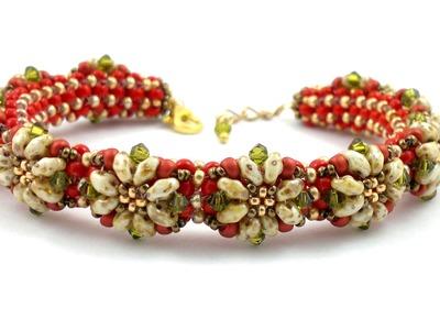 "Beading4perfectionists: ""Proodles"" bracelet. The PRAW bracelet decorated"