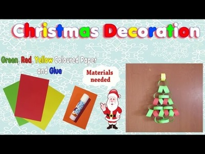 CHRISTMAS DECORATION. CHRISTMAS TREE - Simple kids craft for christmas idea