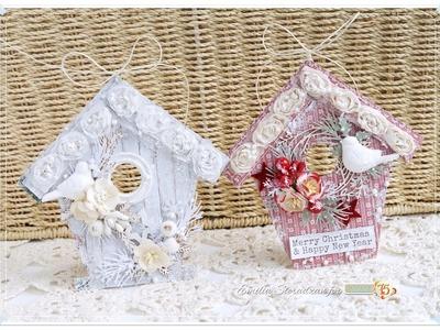 Christmas House Ornaments Tutorial