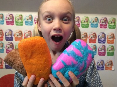 COTTON CANDY POPSICLES squishies & BUTTER BREAD SWISS ROLL squishies