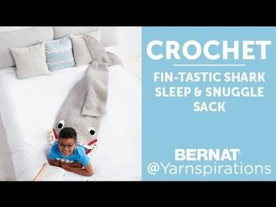 Crochet Shark Snuggle Sack