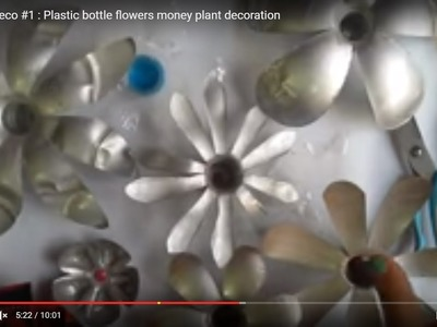 DIY Diwali Deco #1 : Plastic bottle flowers money plant decoration