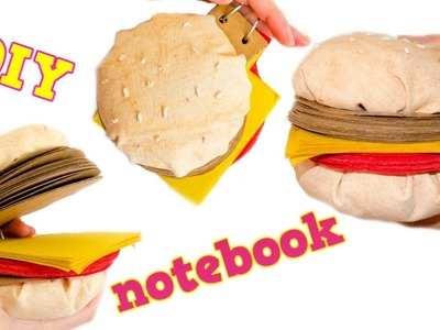 DIY Giant Burger Notebook - Great Present Idea for Birthdays, Christmas, Back to School