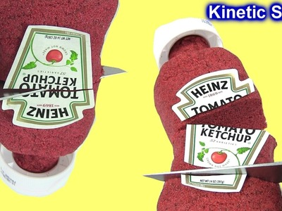 DIY How to Make Kinetic Sand Heinz Ketchup & Learn Colors by Rainbow Collector