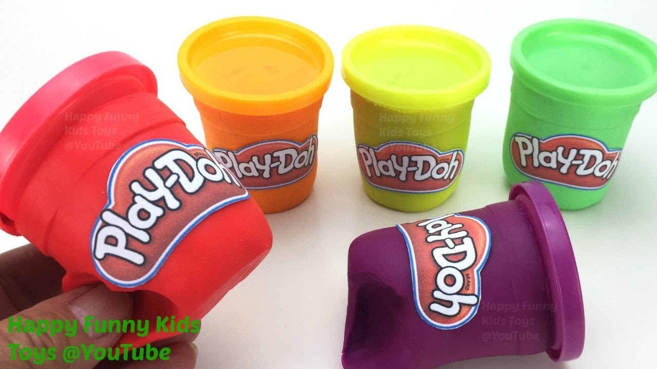 DIY How to Make Play Doh Toy Tubs Play Doh Popsicle & Ice Cream Cups Fun & Learn Colours for Kids