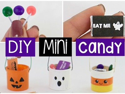 DIY MINI Halloween Buckets With REAL EDIBLE Mini Chocolate & Candy