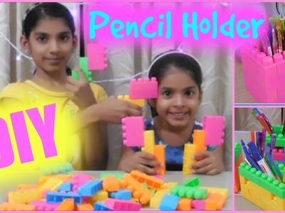 DIY Pencil Holder using Toy Blocks    Reuse old toys