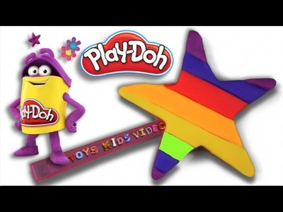 DIY Play Doh How to Make a Rainbow Star Learn Rainbow Color For Kids