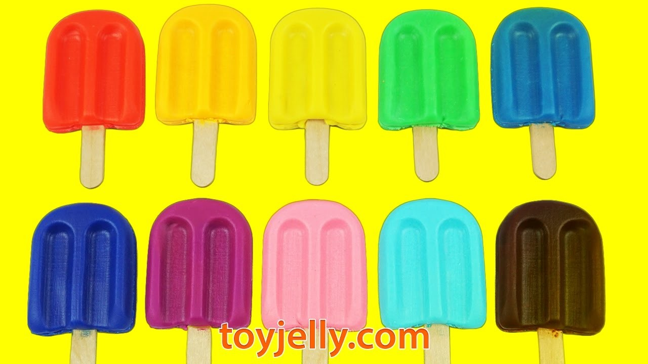 Do It Yourself Glitter Play Dough Popsicles Ice Cream with Mold DIY Fun Cookie Cutters for Kids