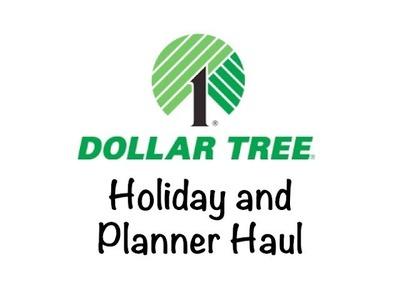 Dollar Tree Haul | Planner & Craft Goodies | Thanksgiving & Christmas Deco