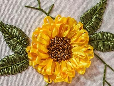 Embroidery Designs | DIY Ribbon Flower | HandiWorks #71