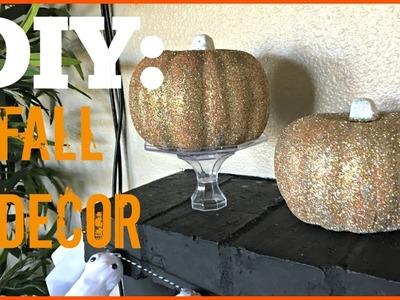Fall DIY | Glittered Pumpkin