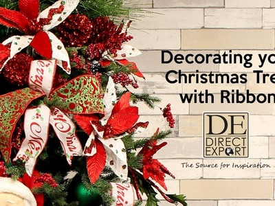 FINISHING YOUR CHRISTMAS TREE WITH RIBBON
