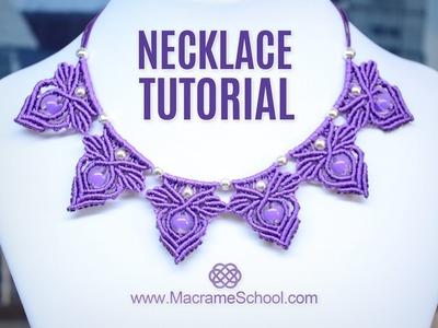 Frozen Elsa Macramé Necklace Tutorial by Macrame School