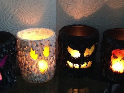 "Halloween DIY ""Scary"" Candle Holder (Tea Light)(How too)"