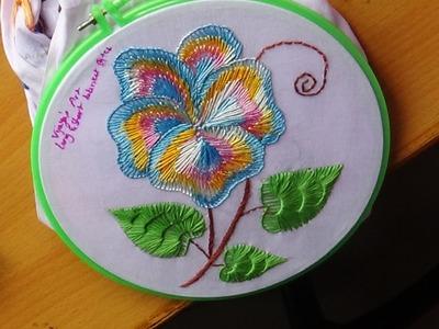 Hand Embroidery Designs # 141 - Long & short blanket design