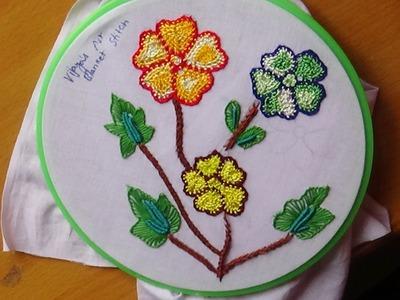 Hand Embroidery Designs # 145 - Net blanket stitch design