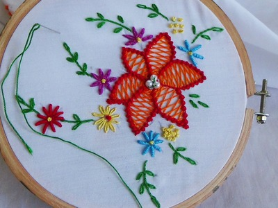 Hand Embroidery: Herringbone Stitch Variation