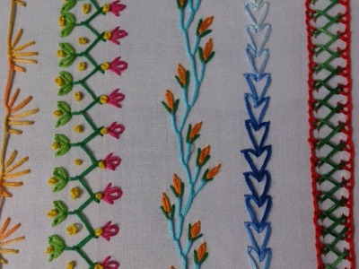 Hand embroidery stitches tutorial for beginners.