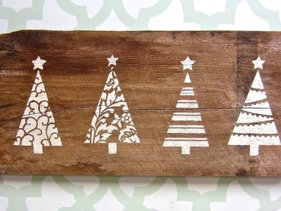 Holiday Decor Made Easy with Christmas Tree Stencils!