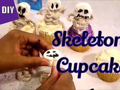 Kids' DIY | Easy Halloween Treats | Skeleton Cupcakes