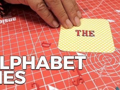 Make Christmas cards using alphabet dies