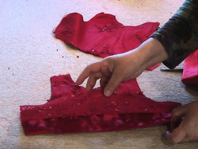 Making the bodice on baby dress