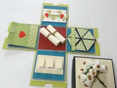 Mini Explosion Box Tutorial by Srushti Patil | 10cm x 10cm |