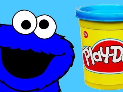 Play doh Cookie Monster Sesame Street Stop motion animation. Monstruo de las galletas