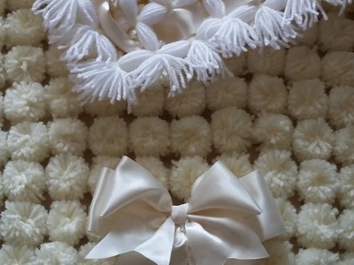POM POM BLANKET LOOM - full step by step tutorial - PART 2 MAKING A POM POM BLANKET WITH THE  LOOM