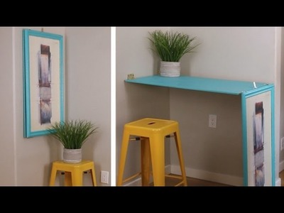 Short On Space This DIY Turns Wall Art Into A Table - Goodful