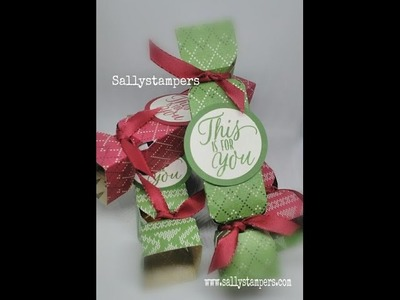 Small Christmas Crackers with Stampin' Up! Warmth and Cheer DSP