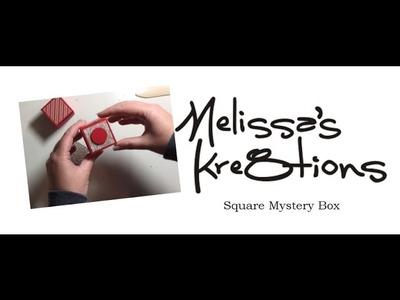 Square Mystery Box - Flat Fold Box - Christmas - Stampin' Up! - Melissa's Kre8tions