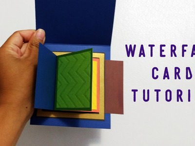 Tutorial - Waterfall Card. Easy, Quick, Template