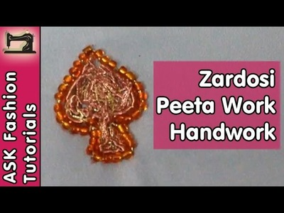 Zardosi Pita Work | Handwork | In Hindi | Step by Step Tutorial