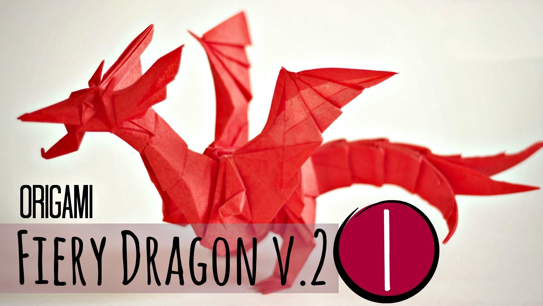 (1.5) How to make an origami Fiery Dragon v.2 (Kade Chan)