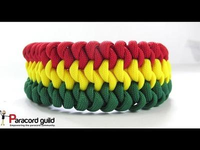 3 color Mated snake knot paracord bracelet
