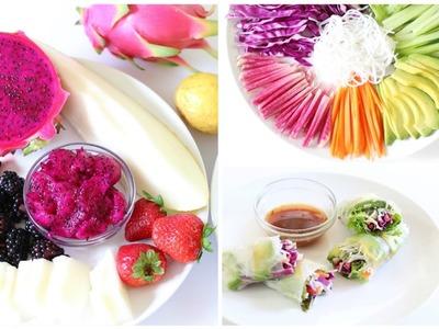 3 Healthy Summer Rolls | Plant-Based Vegan