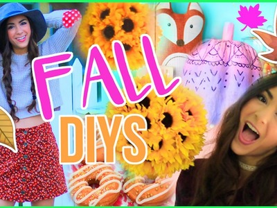 5 Cute and Easy Fall DIYs! Room Decor, Treats, and More!