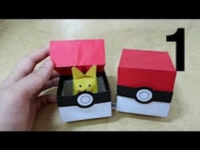 525 포켓몬 GO (포켓볼 상자)  2 - 1 색종이접기  Origami  pokeball 종이접기 Pokemon paper 摺紙 折纸 оригами 折り紙  اوريغامي