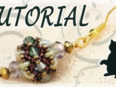 Beading tutorial: Superduo beads and Swarovski bicones and.  cats!