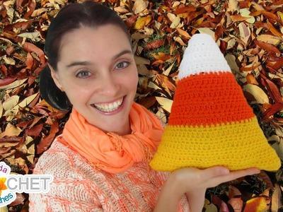 Candy Corn Cushion - Fall. Halloween Home Decor - Throw Pillow