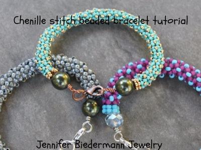 Chenille stitch beaded bracelet tutorial