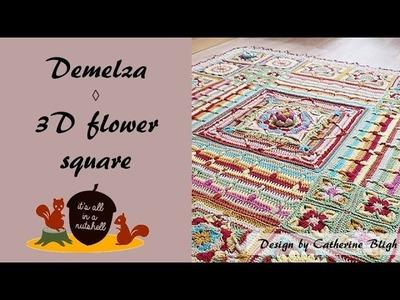 Demelza Part 4 - 3D Flower Corner Square