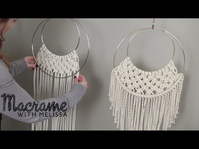 DIY Beginner Macrame Wall Hanging Project with Crafty Ginger