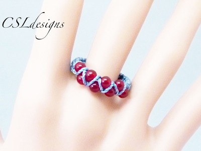 Easy goddess macrame ring