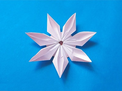 Easy origami modular flower. Ideas for decoration