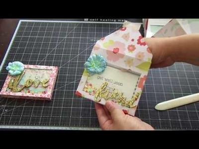 Envelope Shaker Box & Card Set.Tutorial