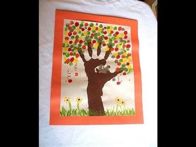 Fall Tree Hand Arm Art | Cullen's Abc's